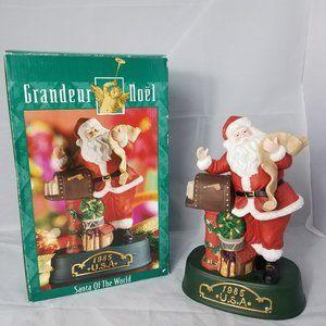 NEW Grandeur Noel USA 1985 Santas of the World
